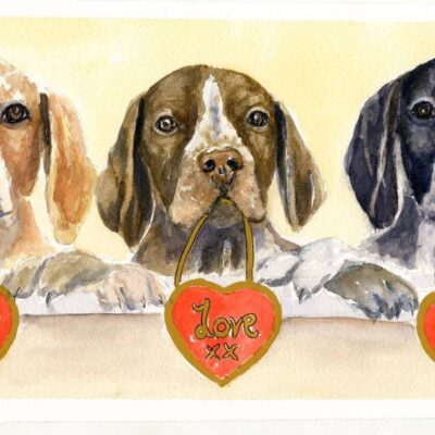 Pointers In Need Valentine's card